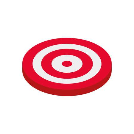target shooting on white background vector illustration design 일러스트