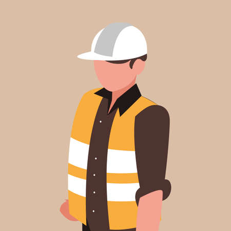 industrial worker avatar character vector illustration design