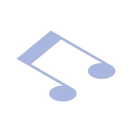musical note on white background vector illustration design