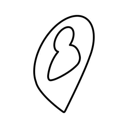 icon of phonebook on white background vector illustration design Ilustracje wektorowe