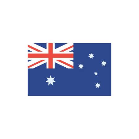 Australian flag design, Travel tourism landmark destination nature vacation south western and holiday theme Vector illustration