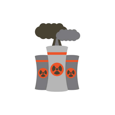 Industrial biohazard chimney design, Pollution factory environment dirty danger industry plant chemical and toxic theme Vector illustration Ilustração