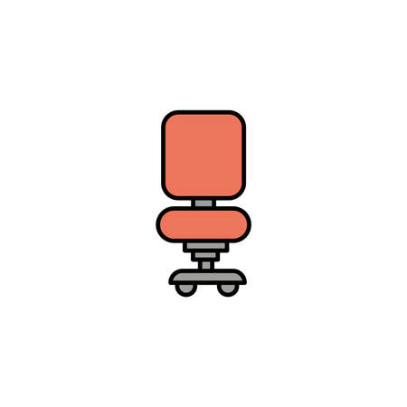 office chair, line style icon vector illustration design