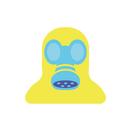 gas mask over white background, flat style and colorful design, vector illustration