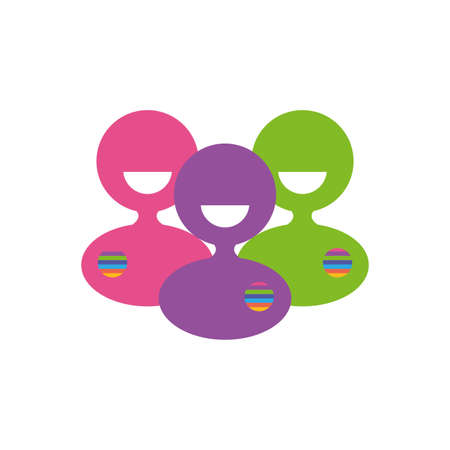 Avatars people of zero discrimination day, flat style icon vector illustration design