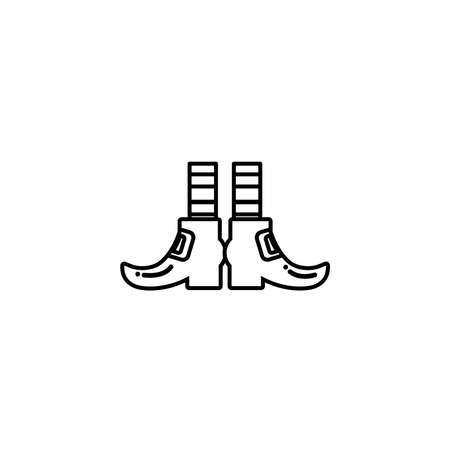 leprechaun boots with socks, flat style icon vector illustration design