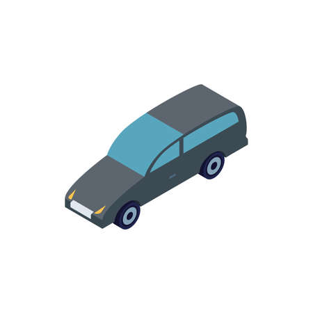 Isometric grey car design, Transportation vehicle transport wheel speed traffic road and travel theme Vector illustration 矢量图像