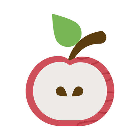 fresh and delicious apple on white background vector illustration design