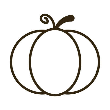 pumpkin on white background, line style icon vector illustration design 일러스트