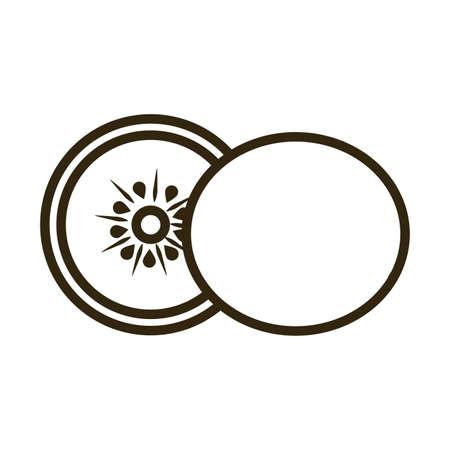kiwi on white background, line style icon vector illustration design
