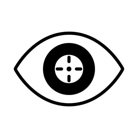 cyber security eye in white background vector illustration design