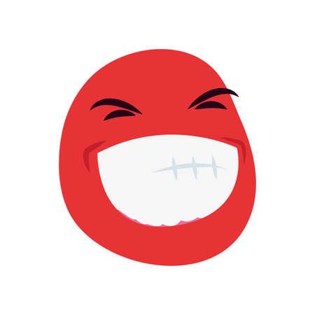 funny emoji face on white background vector illustration Illustration