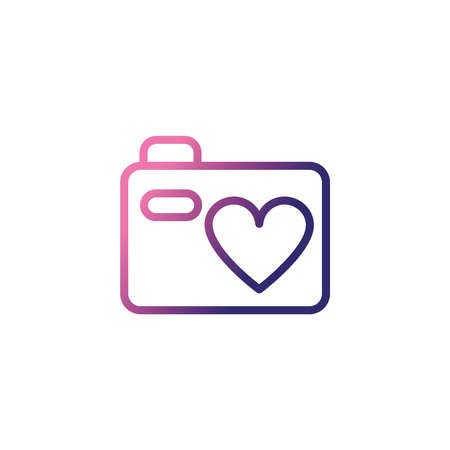 photographic camera, gradient style icon vector illustration design Illustration