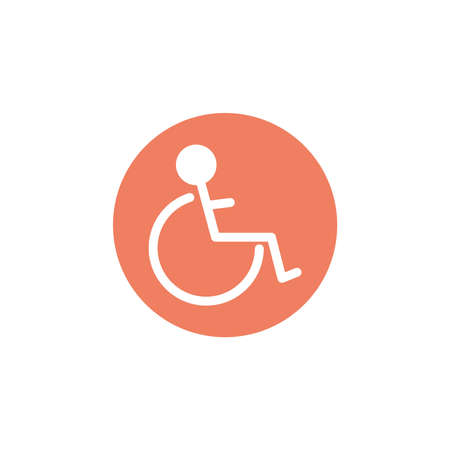 wheelchair for disabled, block and flat style icon vector illustration design