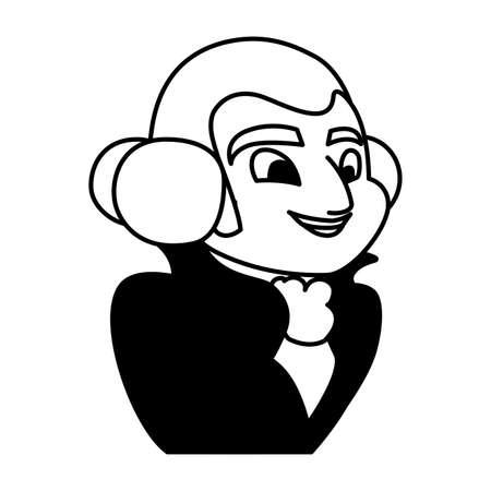 president george washington on white background vector illustration design
