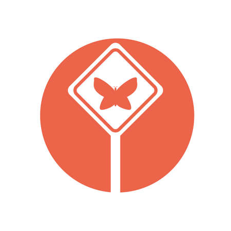 Butterfly inside banner design of Zero discrimination day awareness help support campaign love life care and solidarity theme Vector illustration