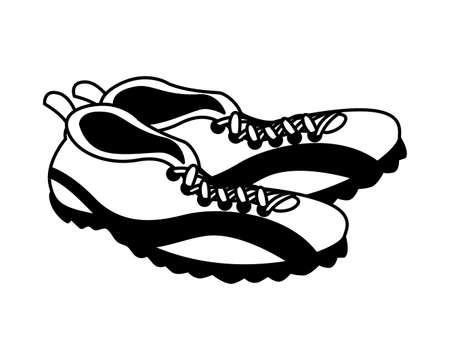 american football shoes on white background vector illustration design Ilustração