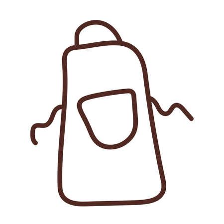 kitchen apron, line style icon vector illustration design 向量圖像