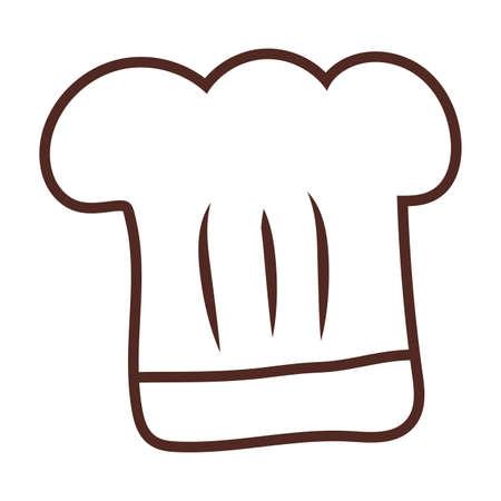 chef hat, line style icon vector illustration design