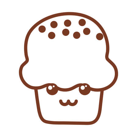 delicious and fresh cupcake , line style icon vector illustration design