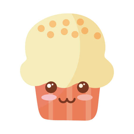 delicious and fresh cupcake on white background vector illustration design