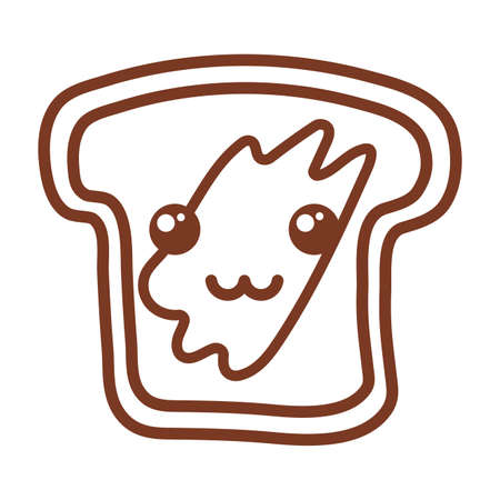 bakery bread , line style icon vector illustration design
