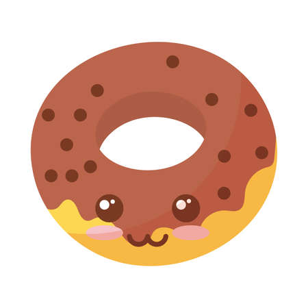 delicious donuts on white background vector illustration design 向量圖像