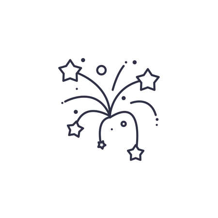Stars firework design, Celebration festival event holiday party anniversay explosion and festive theme Vector illustration