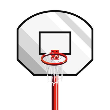 basketball sport hoop backboard design vector illustration