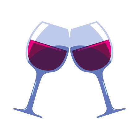 wine glasses on white background vector illustration design Векторная Иллюстрация