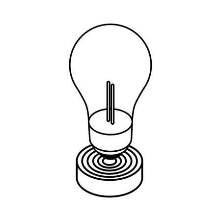 light bulb on white background vector illustration design Zdjęcie Seryjne - 141987977