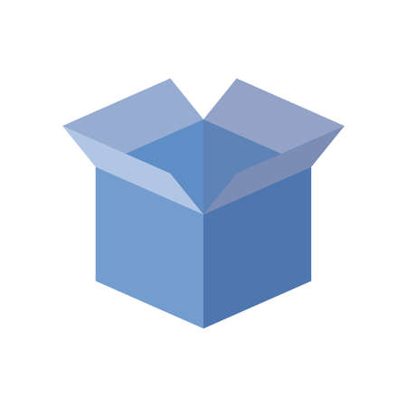 opened box icon over white background, flat style, vector illustration