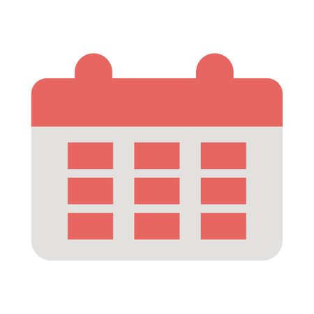 calendar reminder on white background vector illustration design