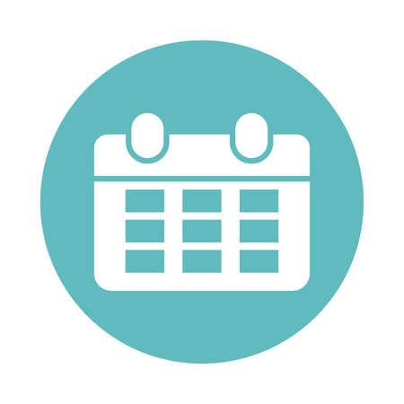 calendar reminder , block and flat style icon vector illustration design