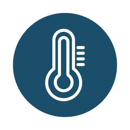 climate thermometer, block and flat style icon vector illustration design 向量圖像