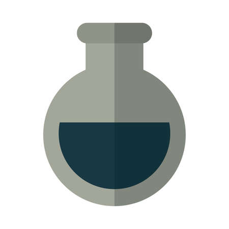 flask with oil on white background vector illustration design