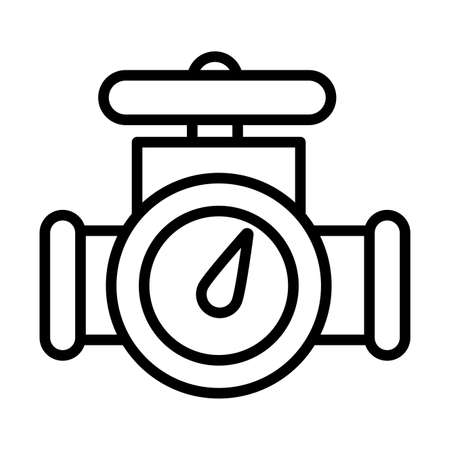 oil valve , line style icon vector illustration design