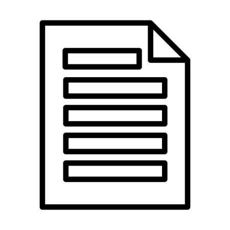 document written , line style icon vector illustration design Stock Illustratie