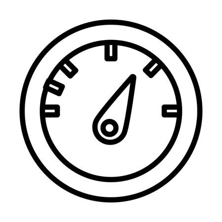 pressure display , line style icon vector illustration design
