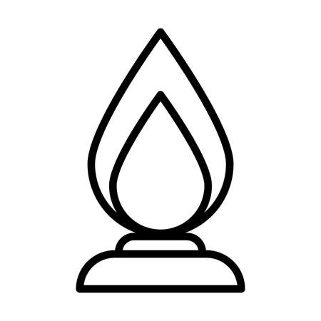 fire flame , line style icon vector illustration design