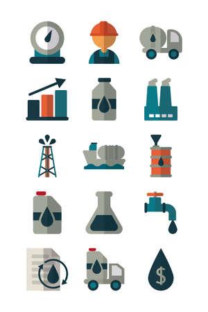 set of icons oil on white background vector illustration design Vektorové ilustrace