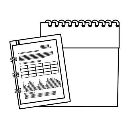 calendar reminder with documents vector illustration design