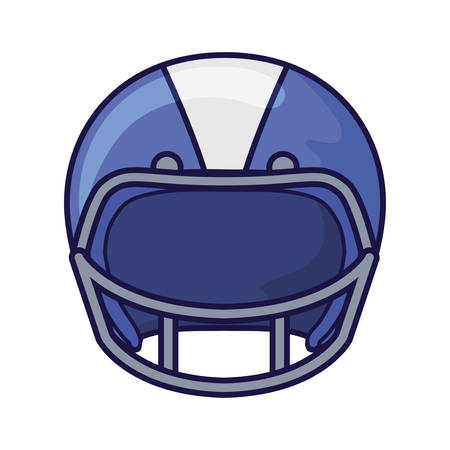 Helmet design, American football sport hobby competition game training equipment tournament and play theme Vector illustration