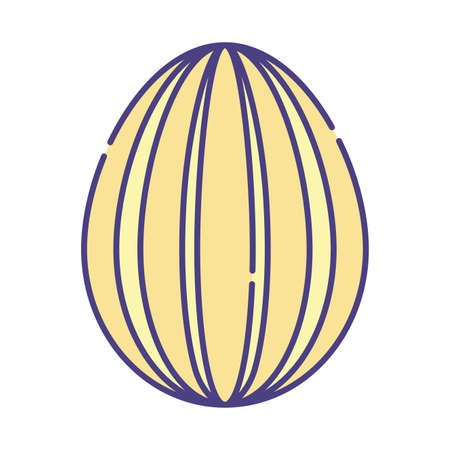 Happy easter egg flat style icon design, Spring decoration holiday greeting ornament celebration festive season tradition and festival theme Vector illustration 向量圖像