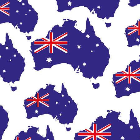 australia map pattern on white background vector illustration design