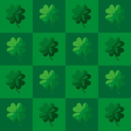 clovers leafs saint patricks pattern vector illustration design 向量圖像