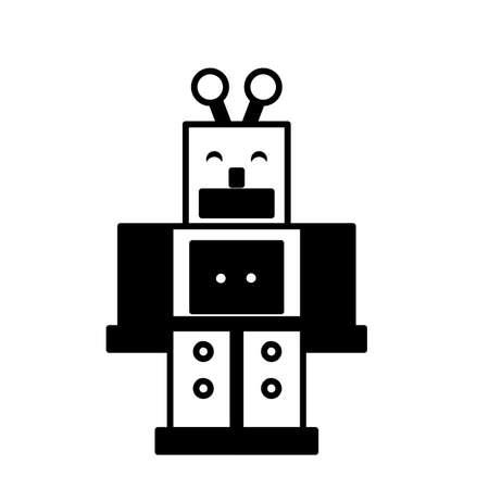 toy robot on white background, baby toys vector illustration design Ilustrace