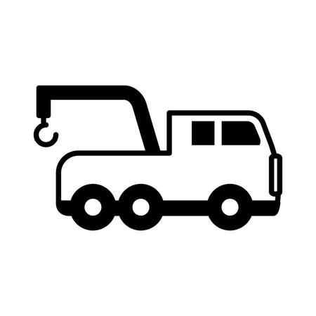 safety crane on white background vector illustration design