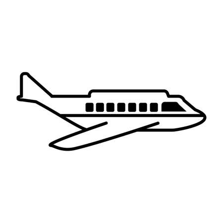 safety plane on white background vector illustration design