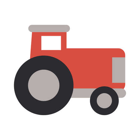 gardening tractor on white background vector illustration design